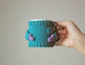 πουλόβερ για την κούπα του καφέ