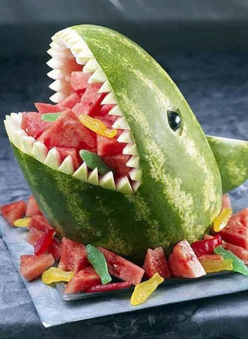ιδέες διακόσμησης τραπεζιού με Φρούτα και Λαχανικά1