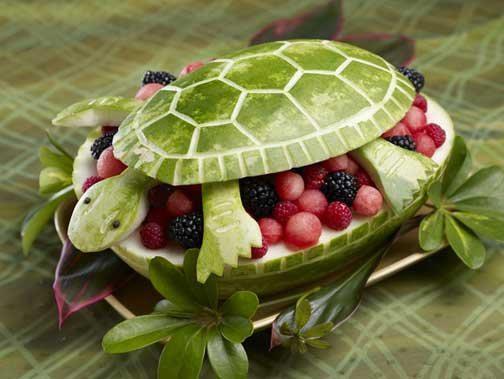 ιδέες διακόσμησης τραπεζιού με Φρούτα και Λαχανικά2