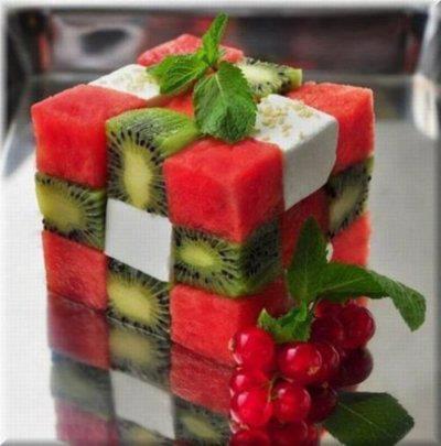 ιδέες διακόσμησης τραπεζιού με Φρούτα και Λαχανικά3