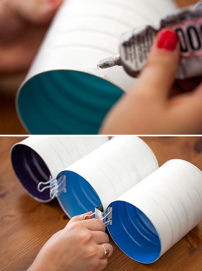 DIY ράφι κρασιών από κουτιά καφέ5