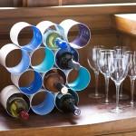 DIY ράφι κρασιών από κουτιά καφέ8
