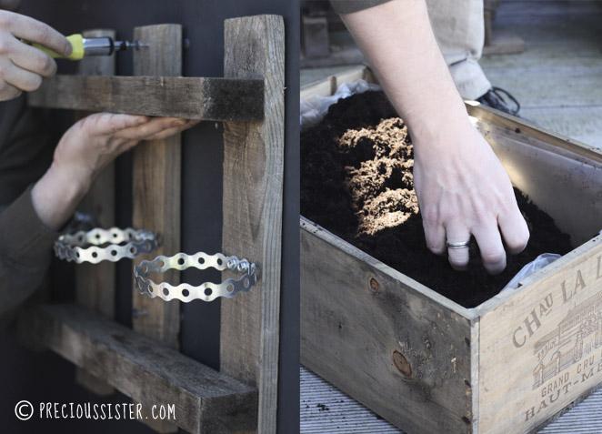Λαχανόκηπος στο μπαλκόνι από παλέτες και καφάσια2