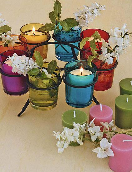 ιδέες διακόσμησης για τραπέζι με κεριά16