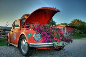 παρτέρια από ανακύκλωση  παλιών αυτοκινήτων και ελαστικών