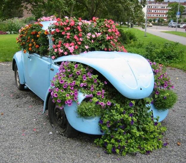 παρτέρια από ανακύκλωση  παλιών αυτοκινήτων και ελαστικών1