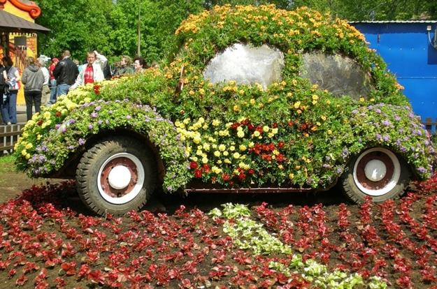 παρτέρια από ανακύκλωση  παλιών αυτοκινήτων και ελαστικών4