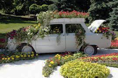 παρτέρια από ανακύκλωση  παλιών αυτοκινήτων και ελαστικών7