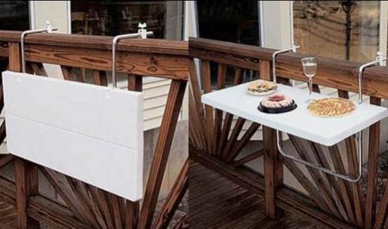 Έξυπνες ιδέες μπαλκονιού με έπιπλα και γλάστρες για εξοικονόμηση χώρου16