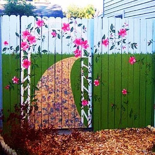 Πολύχρωμες Ιδέες για φράχτες13