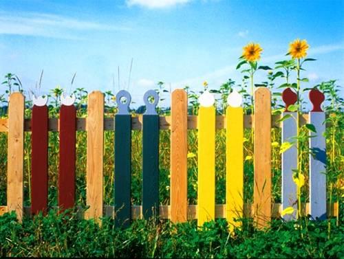 Πολύχρωμες Ιδέες για φράχτες15