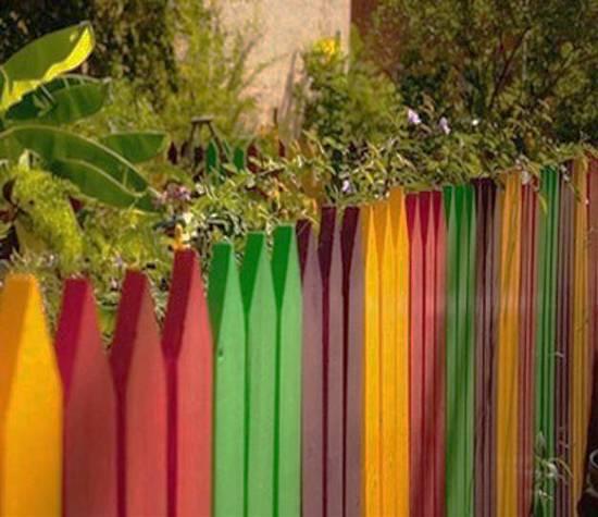 Πολύχρωμες Ιδέες για φράχτες4