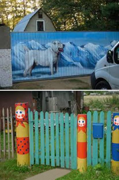Πολύχρωμες Ιδέες για φράχτες6