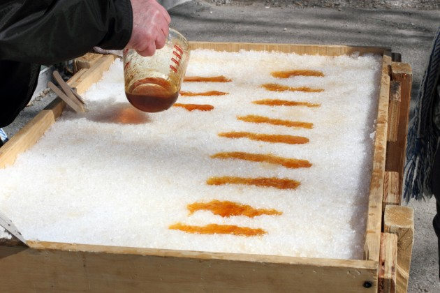 5. maple taffy snow - Canada