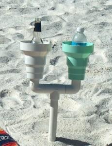 7. Sand-Proof Drink Holder