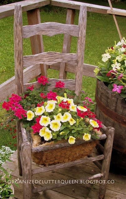 DIY Γλάστρες Κήπου από παλιά υλικά13