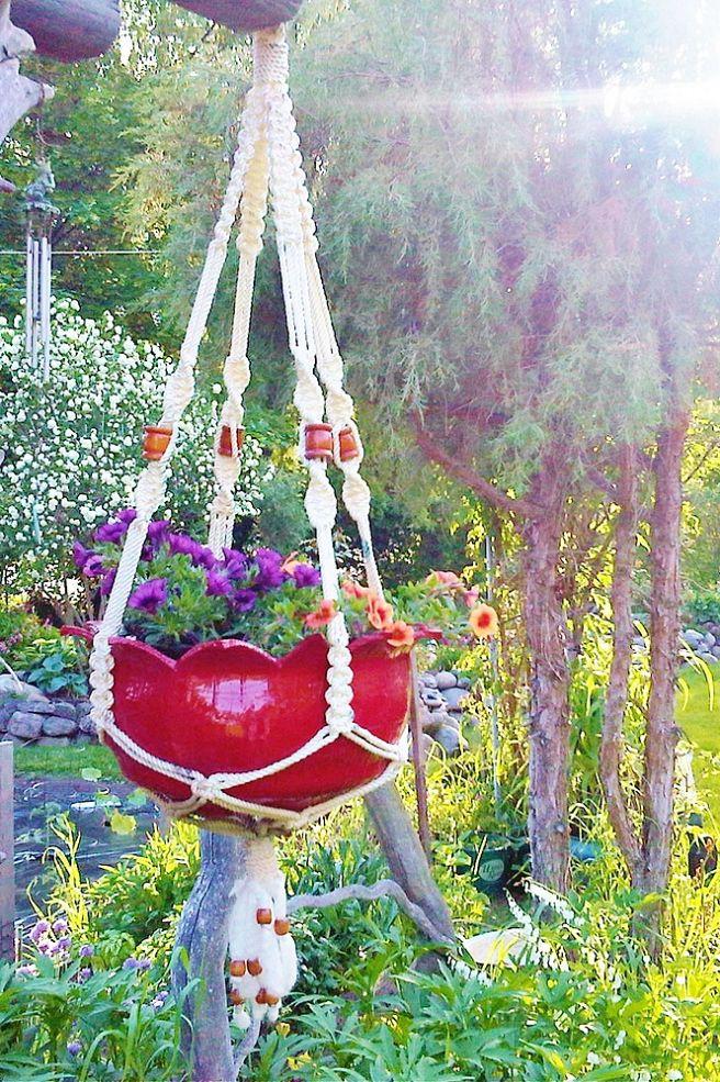 DIY Γλάστρες Κήπου από παλιά υλικά18