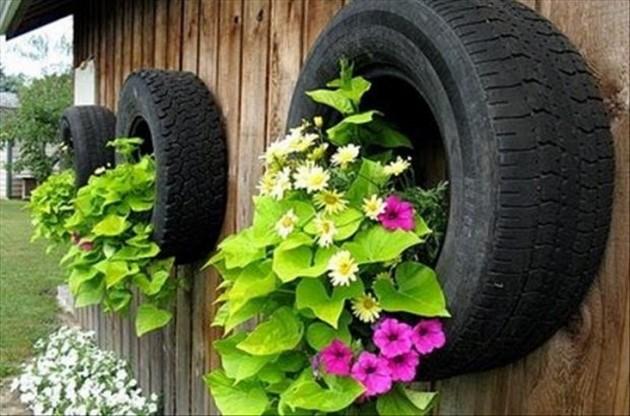DIY Γλάστρες Κήπου από παλιά υλικά19