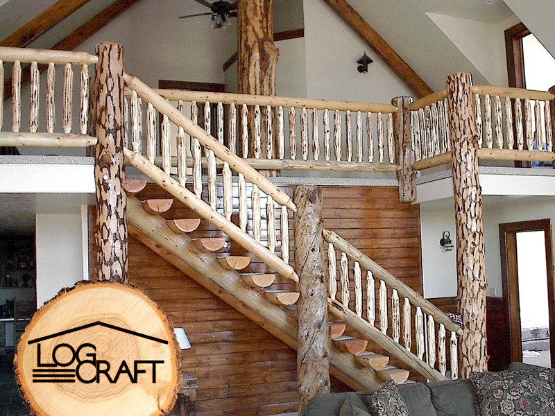 Wonderful rustic staircase idea