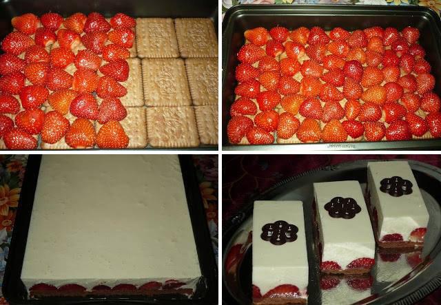 Γλυκό ψυγείου Φράουλες