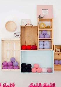 DIY ράφια από κουτιά4