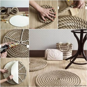 DIY Απλό Χαλί από σχοινι