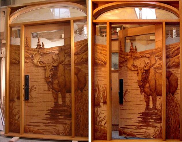 Ξύλινη πόρτα με τάραντο