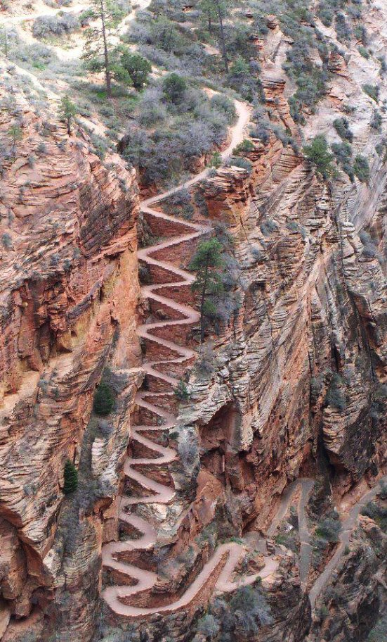 Walter's Wiggles, Zion National Park, Utah, USA