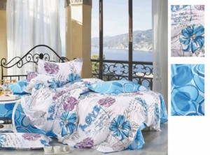 blue_floral_custom_100_cotton_bedroom_colorful_single_flat_bed_sheet_set