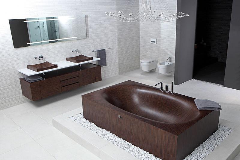 Έπιπλα μπάνιου από ξύλο