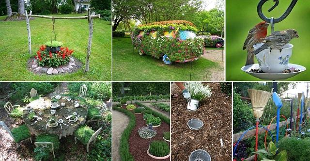 δημιουργικές ιδέες κήπου