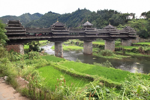 Chengyang-Bridge, Sanjiang, China