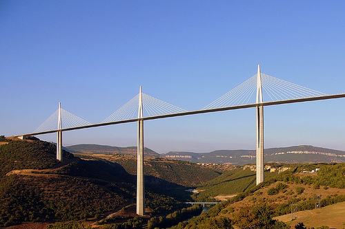 Millau-Viaduct-Bridge, Midi-Pyrénées, France