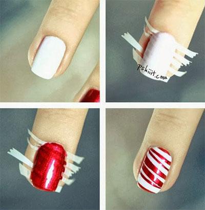 Χαριτωμένες DIY Ιδέες τέχνης νυχιών για τα Χριστούγεννα12