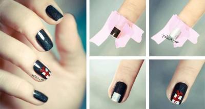 Χαριτωμένες DIY Ιδέες τέχνης νυχιών για τα Χριστούγεννα13
