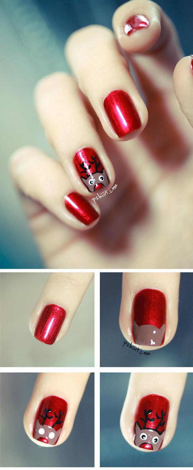 Χαριτωμένες DIY Ιδέες τέχνης νυχιών για τα Χριστούγεννα18