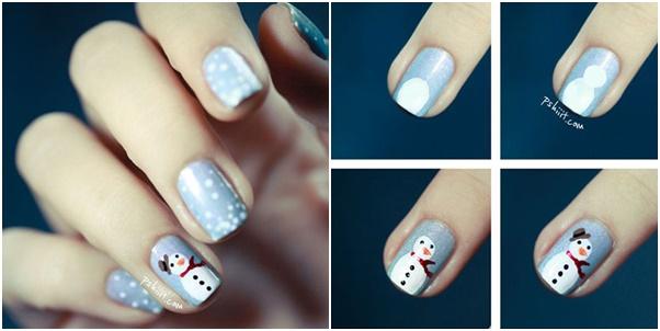 Χαριτωμένες DIY Ιδέες τέχνης νυχιών για τα Χριστούγεννα24