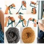 DIY φουλάρι με Πλέξιμο μόνο με το Βραχίονα