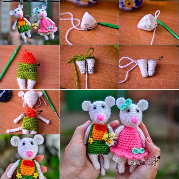 DIY χαριτωμένα πλεκτά Ποντικάκια