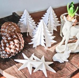 Diy Χάρτινο Χριστουγεννιάτικο Δέντρο2