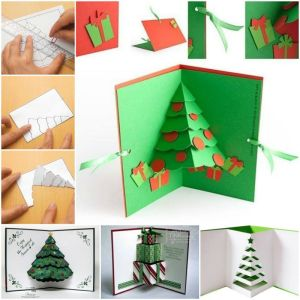 Diy  3d χριστουγεννιάτική κάρτα