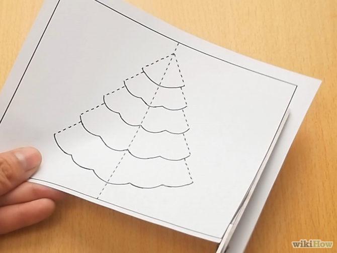 Diy  3d χριστουγεννιάτική κάρτα2