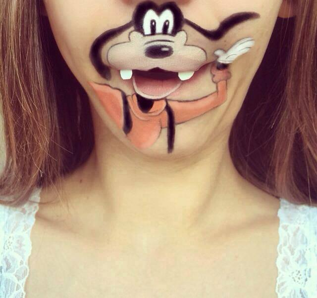 Spectacular-Lip-Art-Designs-Goofy