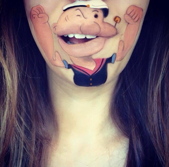 Spectacular-Lip-Art-Designs-Popeye