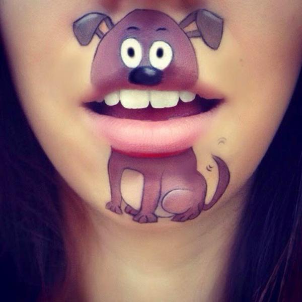 Spectacular-Lip-Art-Designs-dog