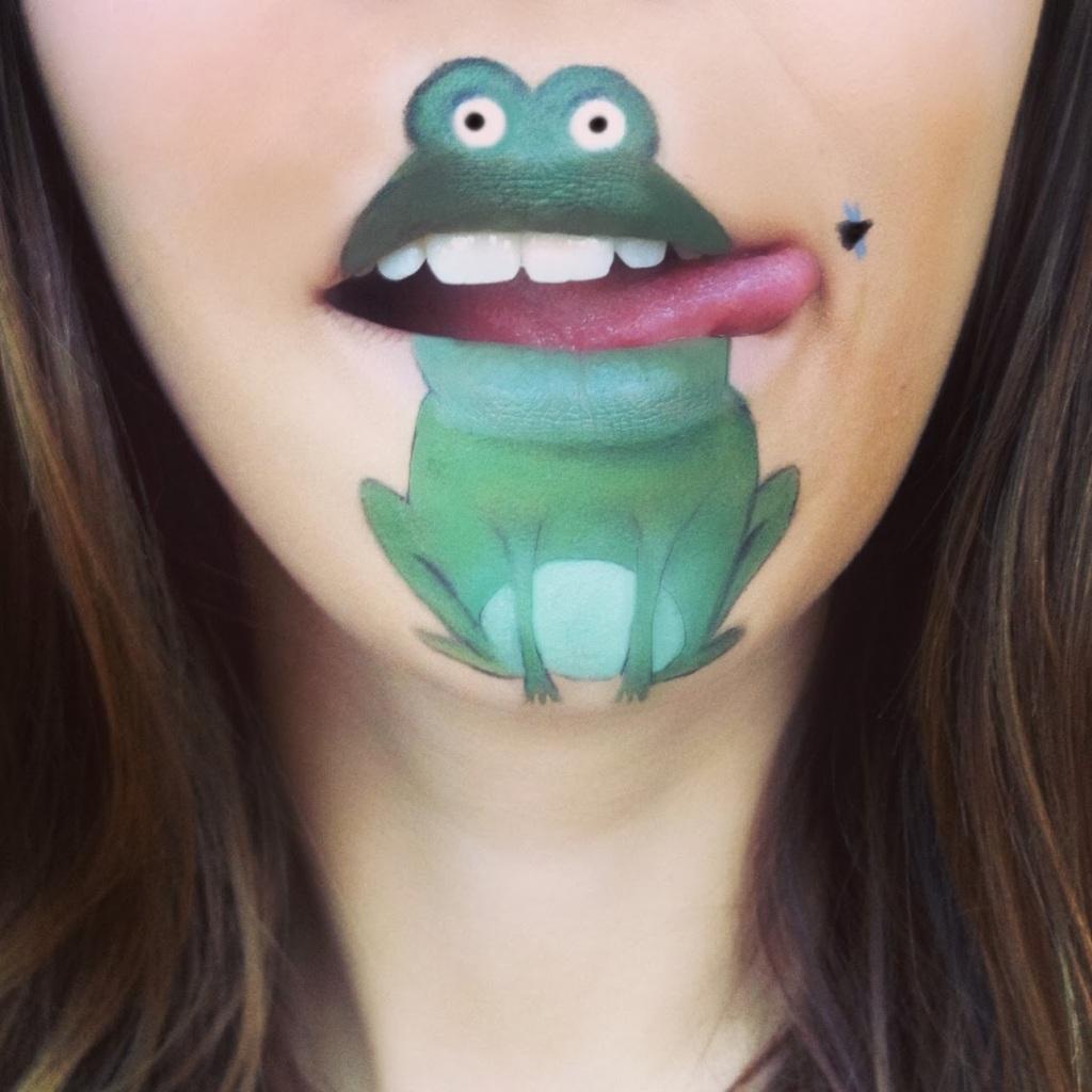Spectacular-Lip-Art-Designs-frog