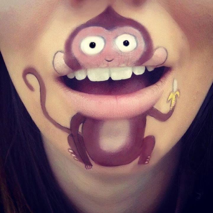 Spectacular-Lip-Art-Designs-monkey