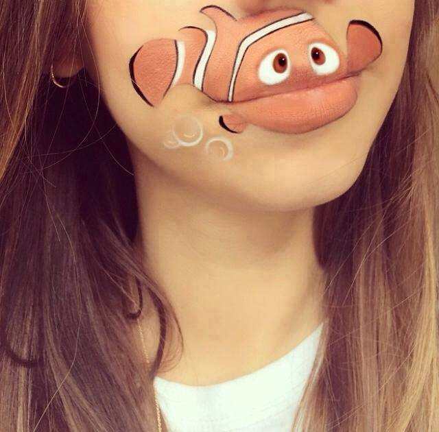 Spectacular-Lip-Art-Designs-nemo