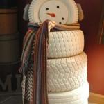 Χιονάνθρωπος από λάστιχα1