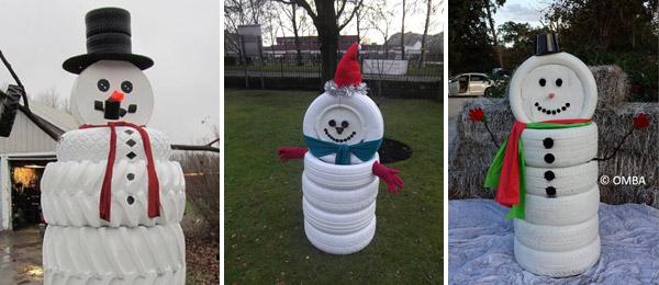 Χιονάνθρωπος από λάστιχα2